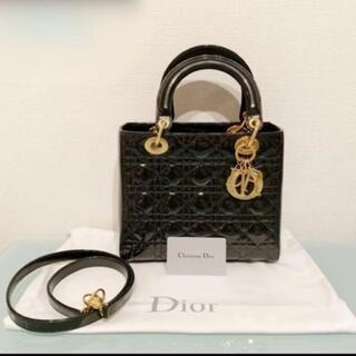 Dior - LADY DIOR カナージュパテントカーフスキン