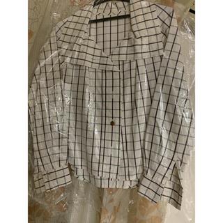 ヴィヴィアンウエストウッド(Vivienne Westwood)の白チェックシャツ ヴィヴィアンウエストウッド(シャツ/ブラウス(長袖/七分))