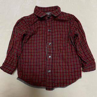 ファミリア(familiar)のシャツ 長袖 リバーシブル ファミリア チェック 赤 男の子 女の子 80 (シャツ/カットソー)