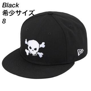 Supreme Skull New Era Black 8(キャップ)