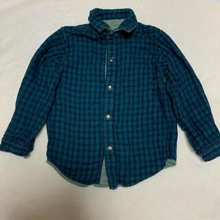 ファミリア(familiar)のシャツ 羽織り リバーシブル ファミリア チェック 長袖 男の子 女の子 100(ジャケット/上着)