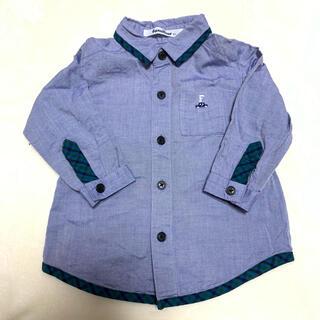 ファミリア(familiar)のシャツ 長袖 ファミリア チェック 羽織り シャンブレー 80 ファミリア(シャツ/カットソー)