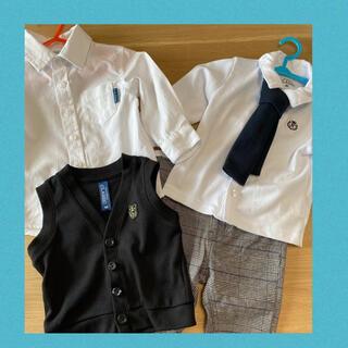 ニシマツヤ(西松屋)の西松屋 男の子 80cm   4点セット(セレモニードレス/スーツ)