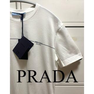 プラダ(PRADA)の★新品タグ付き★ PRADA レディース ロゴ Tシャツ 36 ホワイト (Tシャツ(半袖/袖なし))