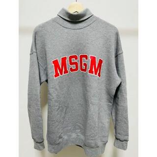 エムエスジイエム(MSGM)のMSGM ほぼ新品未使用 ロゴ ハイネック  スウェット 人気品(トレーナー/スウェット)