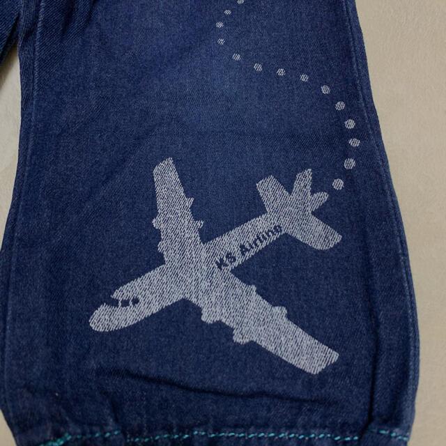 kladskap(クレードスコープ)のパンツ 長ズボン デニム ジーパン 飛行機 100 クレードスコープ  キッズ/ベビー/マタニティのキッズ服男の子用(90cm~)(パンツ/スパッツ)の商品写真
