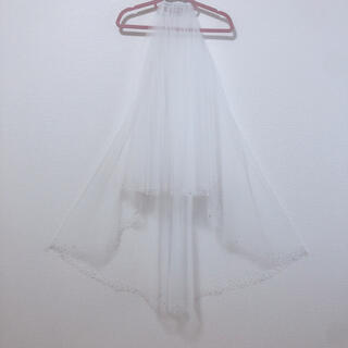 タカミ(TAKAMI)のベール ビジュー付きベール オフホワイト ミディアム(ウェディングドレス)