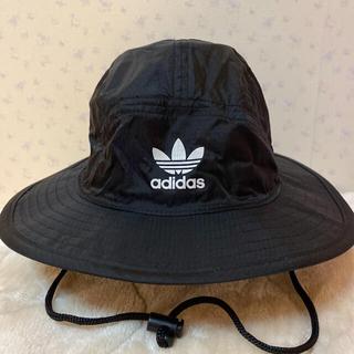 アディダス(adidas)のアディダスオリジナルス バケットハット 新品 黒 レディース(ハット)