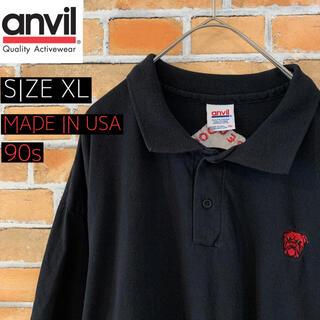アンビル(Anvil)の【anvil】 90s ポロシャツ XL アメリカ古着 ビッグシルエット(ポロシャツ)