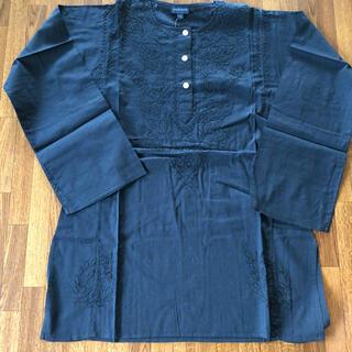 アンティックバティック(Antik batik)の涼しく可愛い!ANTIK BATIK刺繍 長袖カットソー M ブラック(シャツ/ブラウス(長袖/七分))