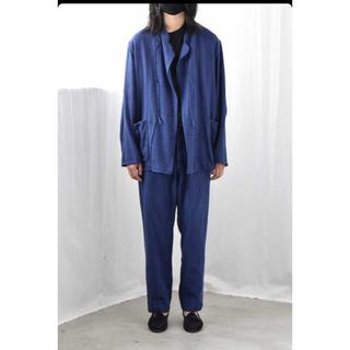 コモリ(COMOLI)のCOMOLI 21ss FRENCH BLUE BACK STRAP PANTS(ワークパンツ/カーゴパンツ)