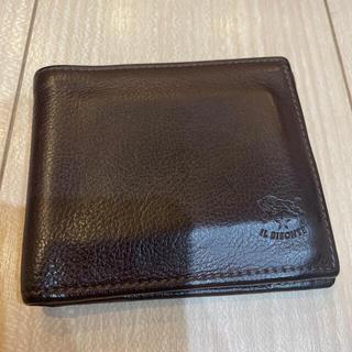 イルビゾンテ(IL BISONTE)のイルビゾンテ 二つ折り財布 革財布 焦茶色(折り財布)