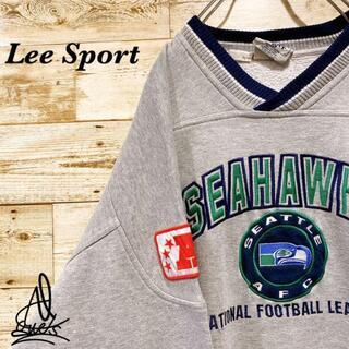 アイスクリーム(EYESCREAM)の《チームロゴ》Lee リー スウェット XL☆グレー 灰色 刺繍ロゴ リブライン(スウェット)