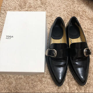 TOGA - TOGA PULLA ローファー 黒 サイズ37