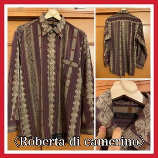 〈未使用〉roberta di camerino 総柄シャツ ポリエステル