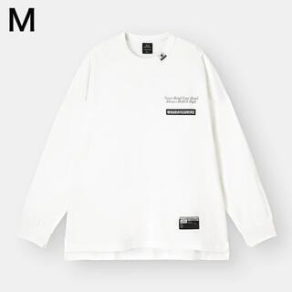 ジーユー(GU)のGU ミハラヤスヒロ ビッグT ロンT 長袖 オーバーサイズ M ホワイト 白(Tシャツ/カットソー(七分/長袖))