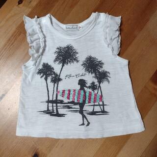 コンビミニ(Combi mini)の「Combi mini」リボンキャスケットのTシャツ 90センチ(Tシャツ/カットソー)