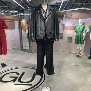 ジーユー(GU)のGU アンダーカバー フェイクレザージャケット M(ライダースジャケット)