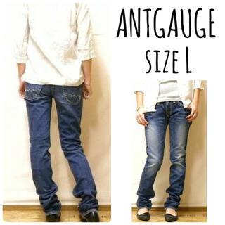 アントゲージ(Antgauge)のANTGAUGE stitch accent tight straight L(デニム/ジーンズ)