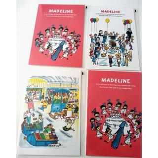 ファミリア(familiar)のマドレーヌ☆ポストカード4枚(使用済み切手/官製はがき)