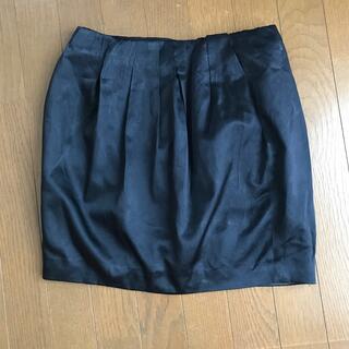 トゥモローランド(TOMORROWLAND)の黒いシルク混スカート (ミニスカート)