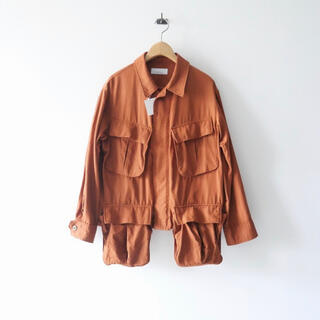 フィーニー(PHEENY)のPHEENY / Rayon cotton twill short jacket(ミリタリージャケット)