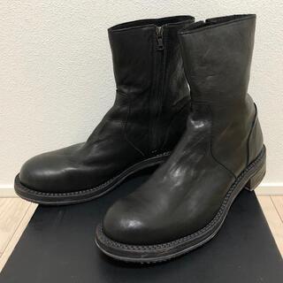 イサムカタヤマバックラッシュ(ISAMUKATAYAMA BACKLASH)のバックラッシュ定価10万円JPNダブルショルダーレザーサイドジップブーツ黒27(ブーツ)