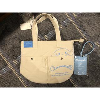 シナモロール(シナモロール)のサンリオ シナモロール ポケット付き トートバッグ パスケース付き 新品(トートバッグ)