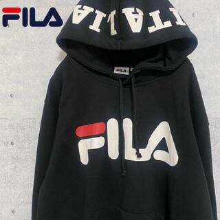 フィラ(FILA)のフィラ FILA イタリア デカロゴ プルオーバーパーカー 黒 M(パーカー)