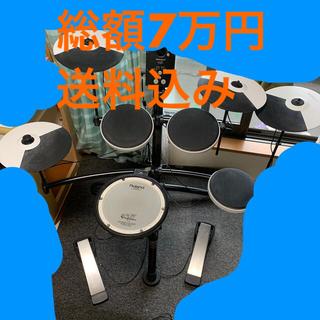 ローランド(Roland)のRoland td1kv 電子ドラム  増設パッド、スローン付き(電子ドラム)
