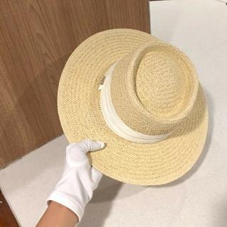 ミュウミュウ(miumiu)のmiumiu麦わら帽子(麦わら帽子/ストローハット)