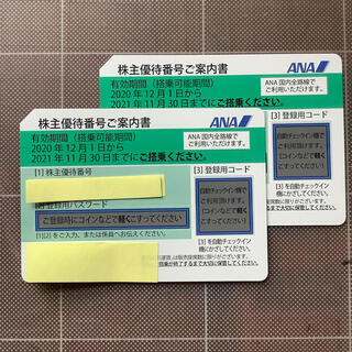 ANA株主優待番号ご案内書2枚(その他)