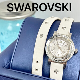 SWAROVSKI - 29 スワロフスキー時計 レディース腕時計 ホワイト ダブルコイル 人気