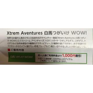 Xtrem Aventures 白馬つがいけ WOW! 割引券 1枚(スキー場)