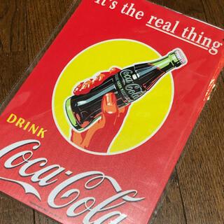 コカコーラ(コカ・コーラ)のit's the real things コカコーラ ブリキ看板(ソフトドリンク)