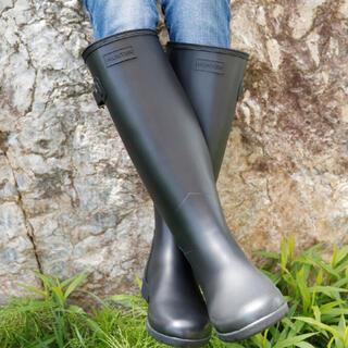 ハンター(HUNTER)のHANTER レインブーツ24センチ UK5 EU38 US7  ハンター 黒(レインブーツ/長靴)