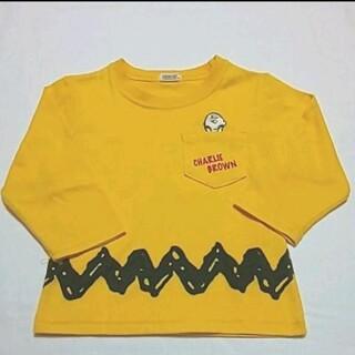 スヌーピー(SNOOPY)のSNOOPY スヌーピー ロンT イエロー 80(Tシャツ)