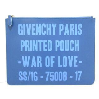 ジバンシィ(GIVENCHY)のジバンシー美品  - ブルー×ライトブルー(クラッチバッグ)