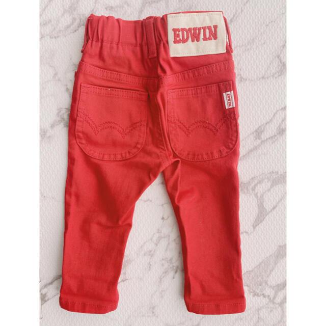 EDWIN(エドウィン)の【新品未使用】⭐️EDWIN サイズ 身長80㎝ 体重11kg キッズ/ベビー/マタニティのベビー服(~85cm)(パンツ)の商品写真
