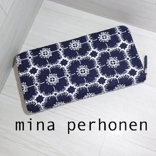 ミナペルホネン(mina perhonen)のmimosa様ご専用★ミナペルホネンラウンドファスナー 長財布 anemone (財布)