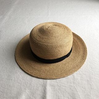 ネストローブ(nest Robe)のmature ha.    ラフィア カンカン帽(麦わら帽子/ストローハット)