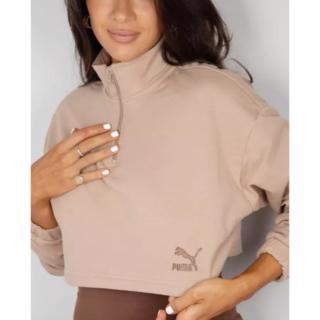 プーマ(PUMA)のPUMA クロップド ハーフジップ スウェット(Tシャツ(長袖/七分))