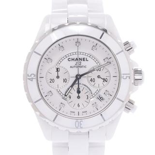 CHANEL - シャネル  J12 クロノ 9Pダイヤ ベゼル新品 腕時計