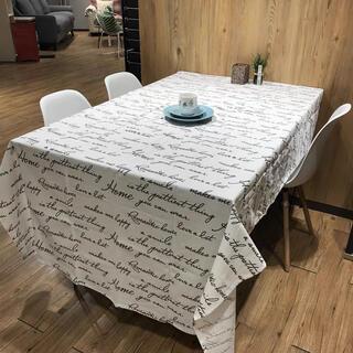 modern house テーブルカバー ホワイト 文字 英語 北欧 デザイン(日用品/生活雑貨)