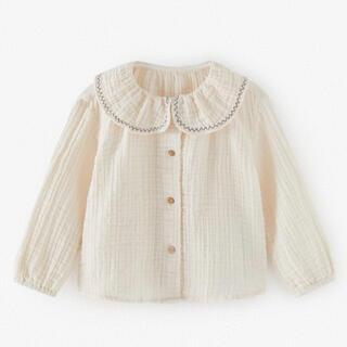 ザラ(ZARA)のZARA ピーターパン襟クレープ地シャツ 襟付きブラウス(シャツ/カットソー)