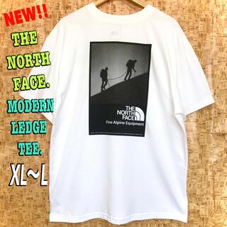 ザノースフェイス(THE NORTH FACE)のスポンジボブさん専用♪ ノースフェイス モダンレッジ Tシャツ 白 XL ~ L(Tシャツ/カットソー(半袖/袖なし))