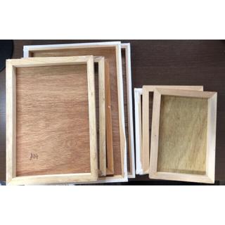 木製パネル A4×3 B2×2 SM×3 A3×1セット 画材(パネル)