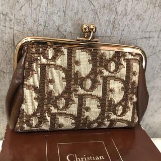 Christian Dior - Dior クリスチャン ディオール トロッター柄 財布 がま口小銭入 極美品☆
