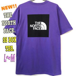 ザノースフェイス(THE NORTH FACE)のペッペさん専用 新品 ノースフェイス BOX Tシャツ パープル紫 L ~ M(Tシャツ/カットソー(半袖/袖なし))