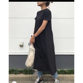 アズールバイマウジー(AZUL by moussy)のハーフスリーブTドレス 完売商品 ワンピース トップス(ロングワンピース/マキシワンピース)